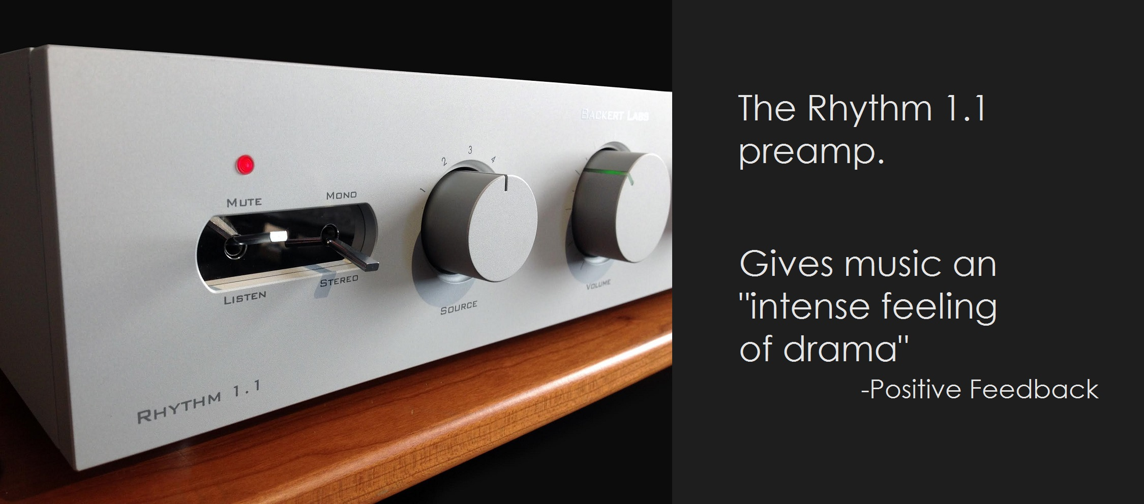Rhythm 1.1 tube preamp